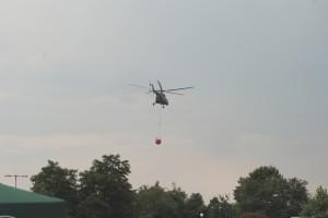 Ми-17 при гасенето на пожара
